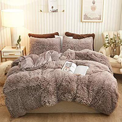 Amazon Com Xege Plush Shaggy Duvet Cover Set Luxury Ultra Soft Crystal Velvet Bedding Sets 3 Pieces 1 Faux Fur Velvet Bedding Sets Velvet Bed Beautiful Sheets