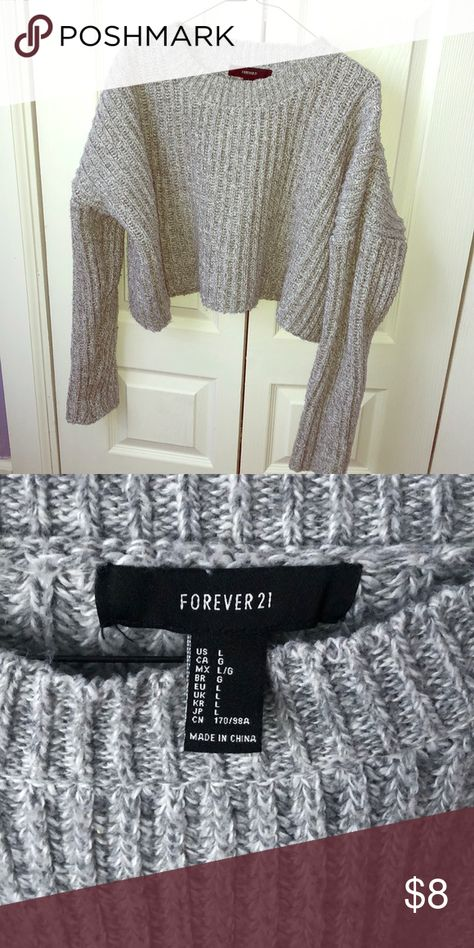 FOREVER21 SWEATER 🖤 Forever 21 short great sweater. Brand new, never worn. Size L! Forever 21 Sweaters