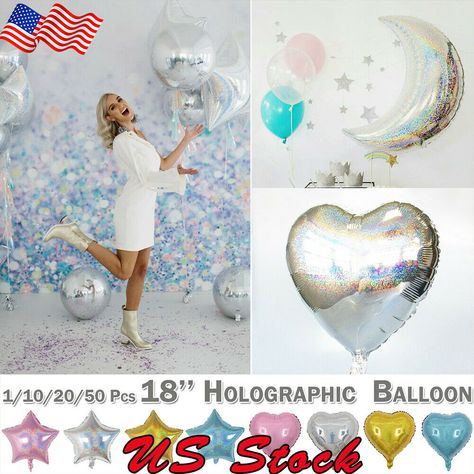 Birthday Valentine/'s Day Star Heart Shape Party Decorations Foil Balloon