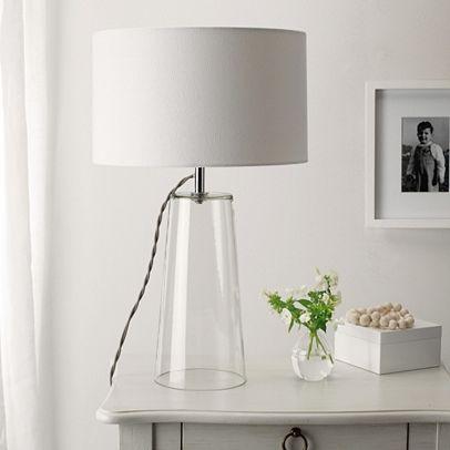 Lenny Glass Clear Table Lamp | Clear