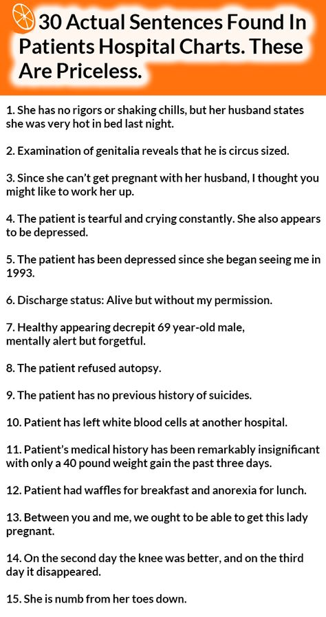 Pin By Pam Ward On RD World Pinterest Dietitian Humor Humor - 30 dumbest sentences found in patients hospital charts