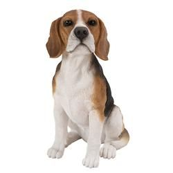 Realistic Life Size Beagle Statue Detail Sculpture Glass Eyes Hand