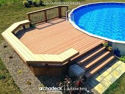 Image Result For 21 Ft Above Ground Pool Deck Plans Swimming Pool Decks Pool Deck Plans Above Ground Pool Decks