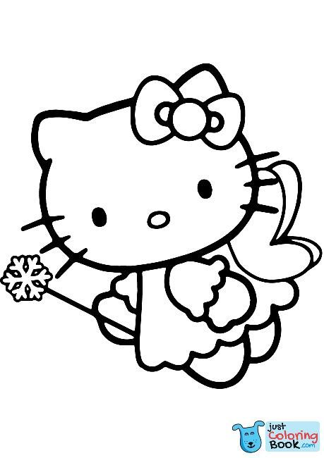 Hello Kitty Fairy Coloring Page Free Printable Coloring Pages