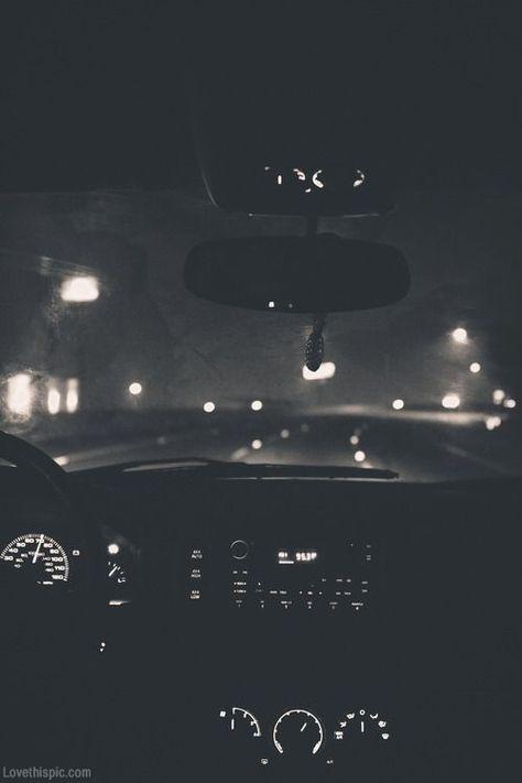 Night driving photography black and white cars dark night lights