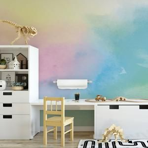 Pastel Rainbow Ombre Wallpaper Removable Wallpaper Peel Etsy Ombre Wallpapers Watercolor Ombre Watercolor Wallpaper
