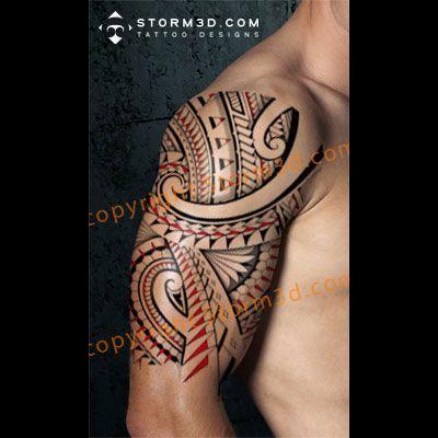 tribal halfsleeve tattoo design flash sheet linedrawing buy online high quality