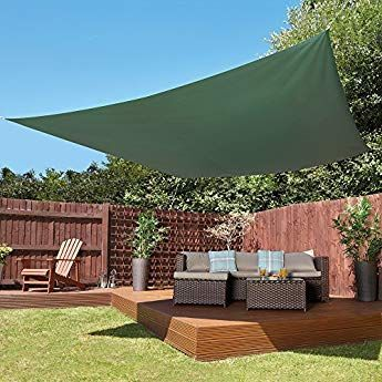 Thompson /& Morgan Sun Shade Sail Waterproof Canopy UV Sunscreen Patio Awning Cover 3M Triangle, Cream
