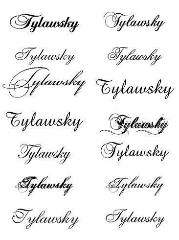 Nombres de letras cursivas