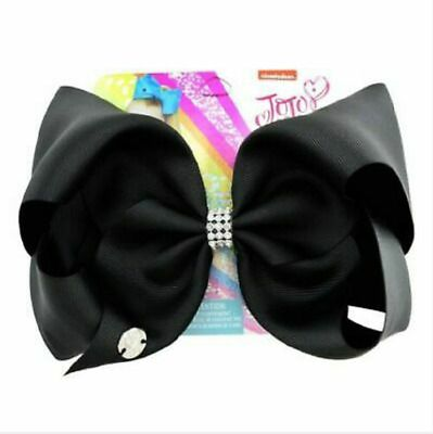 JoJo Siwa Pure Color Hair Bow With Alligator Clip Girl Kids Bowknot 8 inches