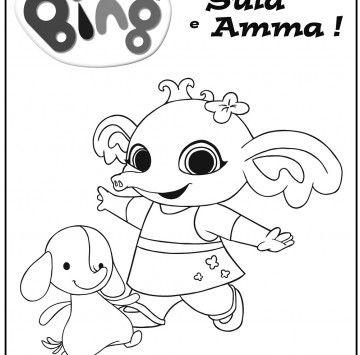 Bing Disegno Sula E Amma Cartoni Animati Disegni Da Colorare