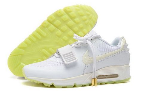 huge discount ecde0 1f686 2014 Nike Air Yeezy Ii 2 Sp Max 90 The Devil Series West Mens Shoes All  White Yellow Discount Code