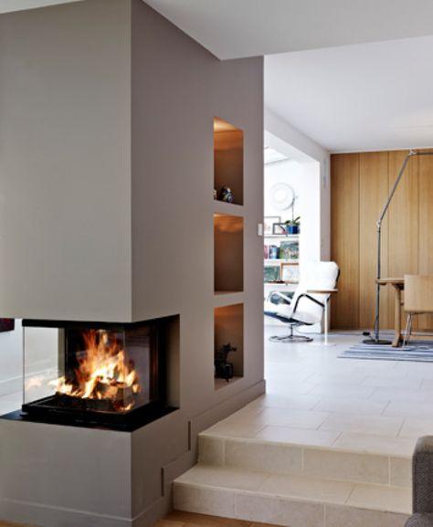 Der Kamin Als Zentrum Im Offenen Wohn  Esszimmer.   Kamin   Pinterest    Living Rooms, Foyers And Stove