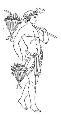 Dionysus Bacchus Coloring Page Coloring Pages Horse Tattoo Bacchus