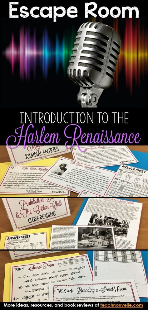This Harlem Renaissance Escape Room Is The Perfect Way To Introduce Students To Close Reading Activities Reading Comprehension Reading Comprehension Worksheets Renaissance worksheet answer key