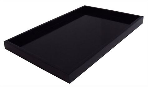 Marvelous Large 20 X 30 Classic Black Ottoman Tray By Gmtry Best Dining Table And Chair Ideas Images Gmtryco