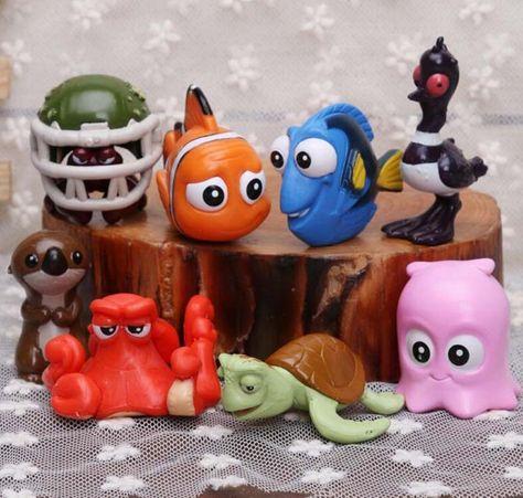 PEARL Disney FINDING NEMO Octopus PVC TOY FIGURE Birthday Party Favor FIGURINE!