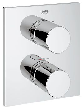 Grohe Cosmo Thermostat Shower Valve With Diverter Square Trim By