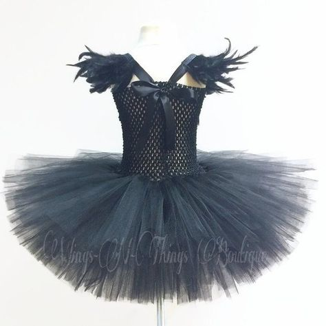 006a58620 BLACK SWAN COSTUME 2pc Set Tutu Dress Crow Raven
