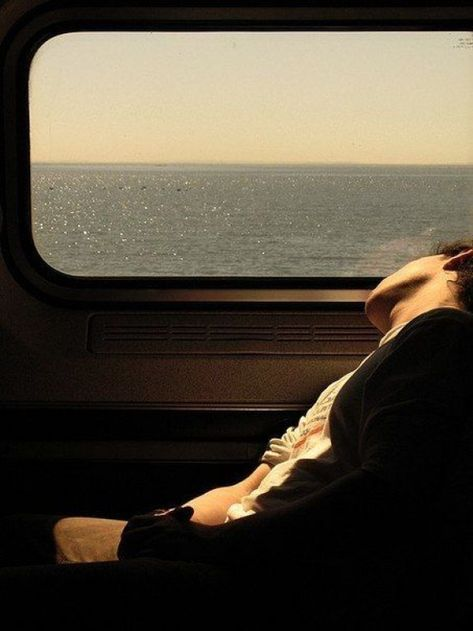 Taking a train ride with views.and napping too.