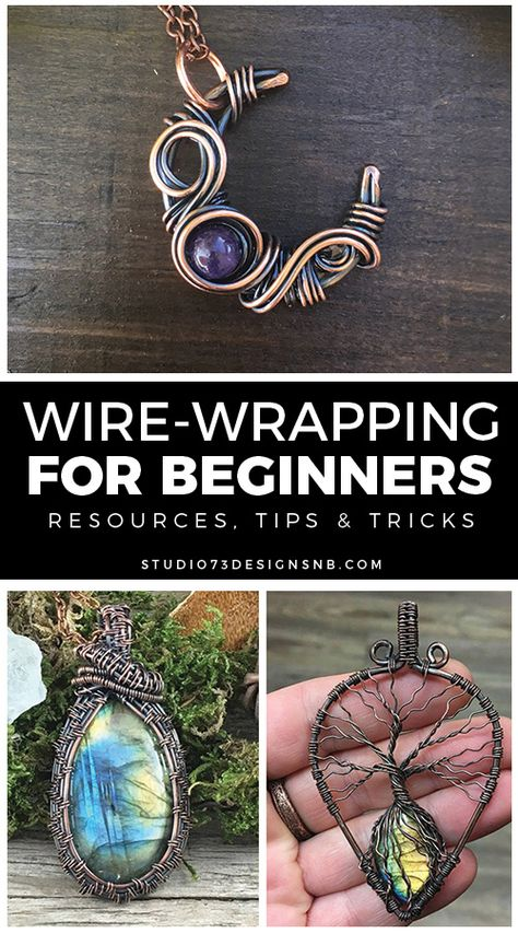 for Beginners * Wire Tutorials for beginners - List of resources, tips & tricks for wire-wrapping beginners. -Wire-Wrapping for Beginners * Wire Tutorials for beginners - List of resources, tips & tricks for wire-wrapping beginners. Handmade Wire Jewelry, Wire Jewelry Designs, Wire Jewelry Making, Beaded Jewelry, Diy Jewelry With Stones, Wire Jewelry Patterns, Jewelry Tools, Jewellery Making, Handmade Art