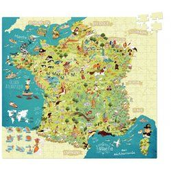 puzzle carte de france Puzzle carte de France 300 pièces   Vilac en 2020 (avec images