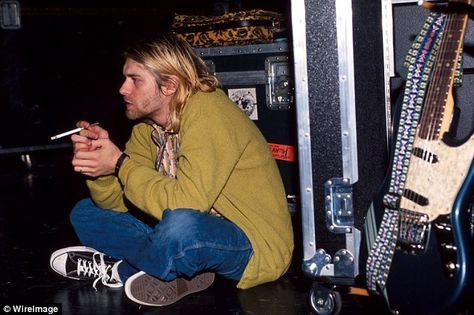Cobain was a singer, songwriter and guitarist for Nirvana, which released  debut album Bleach in 1989