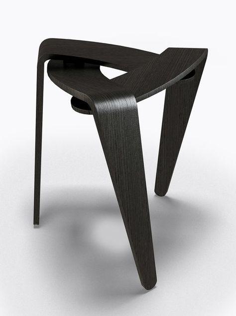 *industrial design, furniture, stool, wood, modern* - Diaphragm. Michael Bihain. Photo: Anthony | http://industrialdesign.hana.lemoncoin.org
