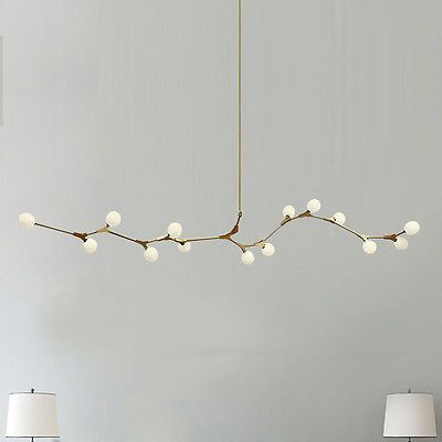 Modern Glass Globes Chandeliers Metal Branch Pendant Lighting