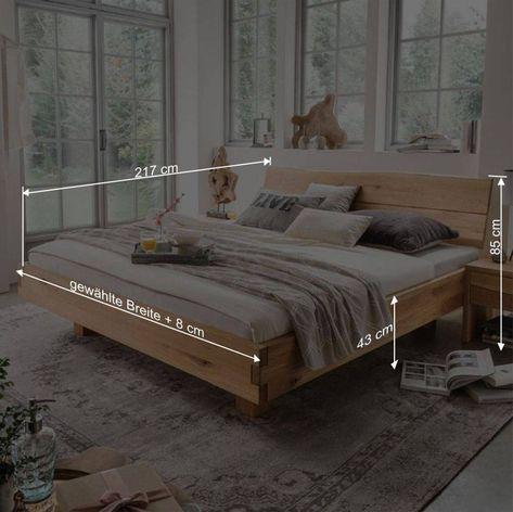 Holz Doppelbett Mit Kopfteil Baumkante Smiralda In 2020 Haus
