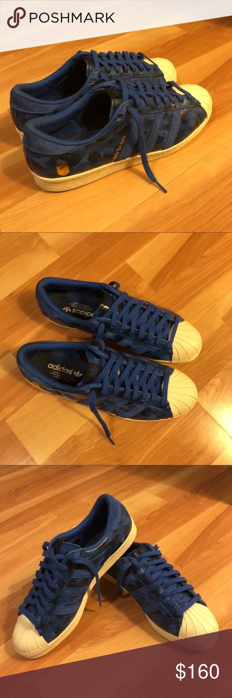 b1a569d10 Bape x Undefeated x Adidas Superstars 8 10 condition