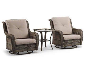 Wilson Fisher Pinehurst Aqua Replacement Cushion Swivel Glider Chair Set 4 Piece Big Lots Patio Furniture Collection Patio Seating Sets 3 Piece Patio Set