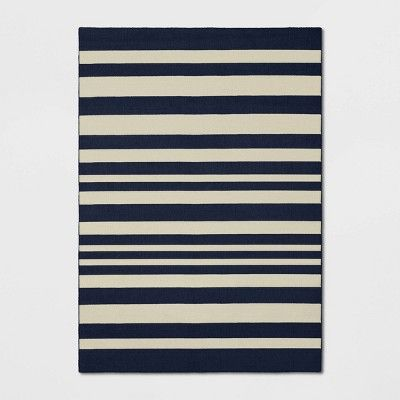 7 X10 Good Fashion Stripe Rug Navy Room Essentials In 2020 Striped Rug Room Essentials Navy Rug