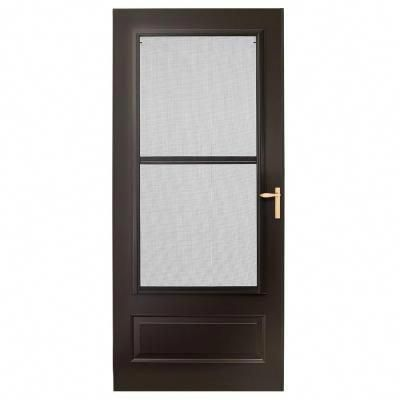 Emco 300 Series Bronze Triple Track Storm Door E3tt 32bz The Home Depot Trackhomeremodel Aluminum Storm Doors Glass Store Home Depot
