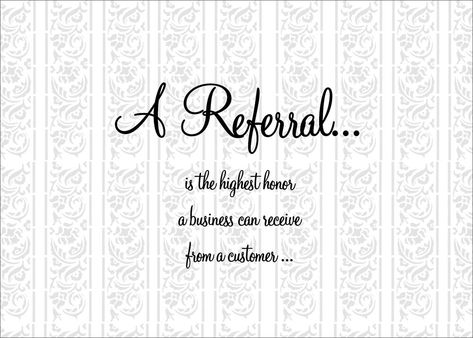 Thank You for Referral Quotes | ... Business Greeting Cards > Business Referral Cards > A Referral Thanks
