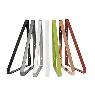 Form Clever Red Steel Shelf Bracket D 200mm Steel Shelf