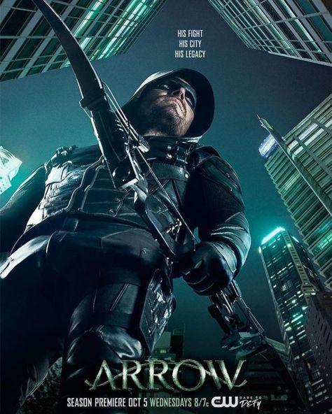 Veja O Cartaz Da 5ª Temporada De Arrow Com Imagens Arrow Tv