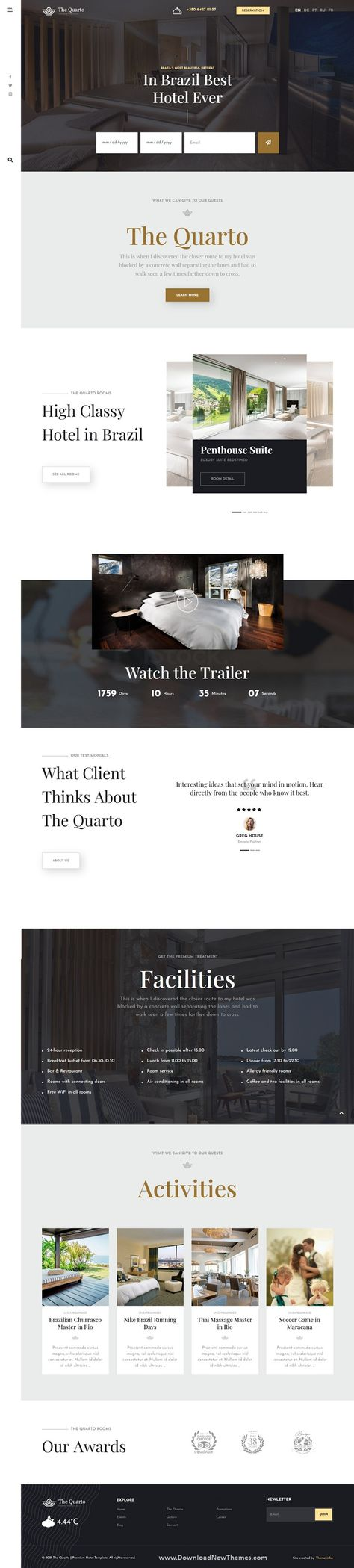 The Quarto Premium Hotel Joomla Template