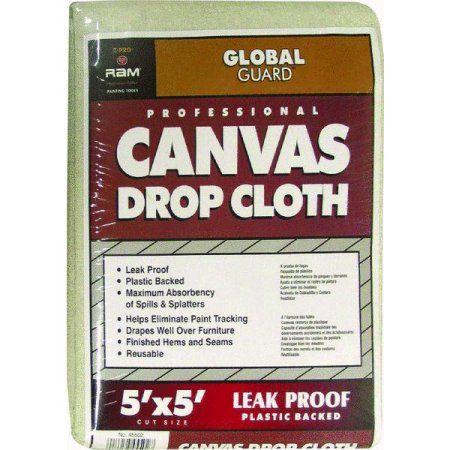 Trimaco Two Layer Drop Cloth Walmart Com Canvas Drop Cloths Drop Cloth Leak Proof