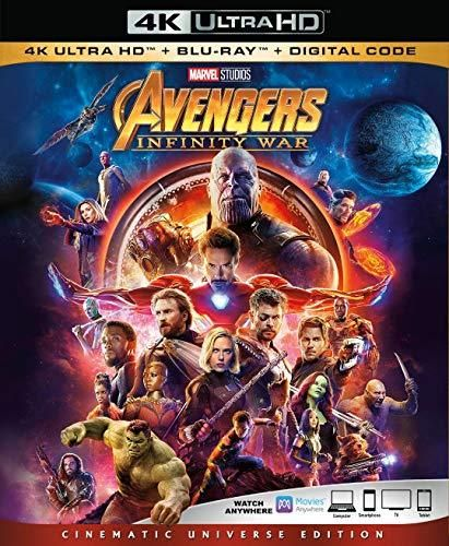 Avengers Infinity War 4K Ultra HD + Blu Ray + Digital Code [Blu-ray] with no outer sleeve (O-Sleeve) - Default