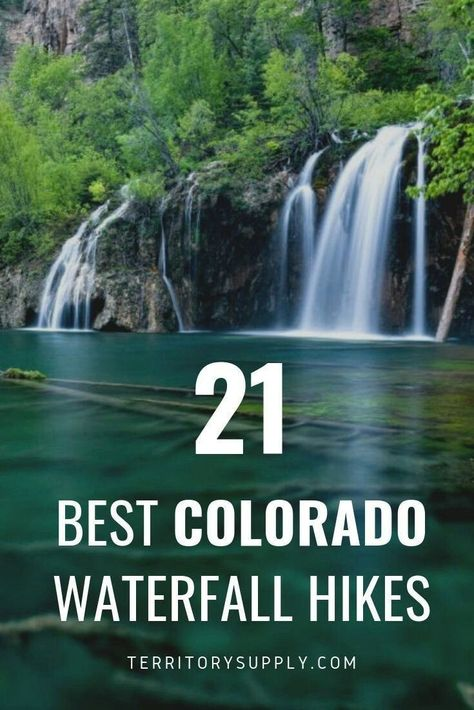 Waterfalls are awesome and Colorado has a bunch of them. The spirit of John Denver wants you to go take a hike out to a great waterfall every now and then. Estes Park Colorado, Denver Colorado, Vail Colorado, Hikes Near Denver, Road Trip To Colorado, Colorado Hiking, Colorado Springs Hikes, Colorado Vacations, Pagosa Springs