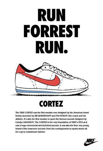 estoy de acuerdo con comodidad Dime  Anuncio Nike Cortez | Nike poster, Nike cortez forrest gump, Nike cortez