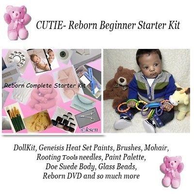 "10/"" Reborn Baby Doll Kit Unpainted Boy Doll Full Body Silicone DIY Handmade Mold"