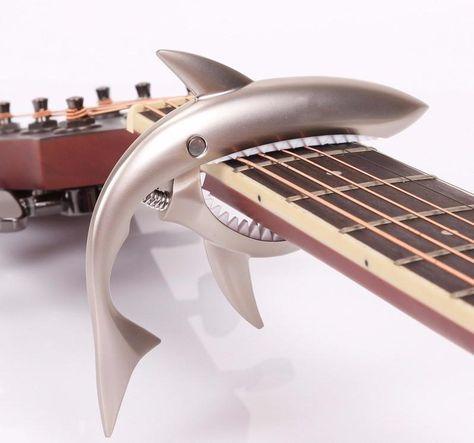 Rose Gold Shark Capo Electric Guitar Capo Ukulele Zinc Alloy Spring Capo Banjo Mandolin Bass Capo