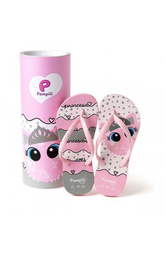72da5fe7daaccf Chinelo Infantil Pampili Love Princess Dot Rosa Glace | Kids Fashion ...