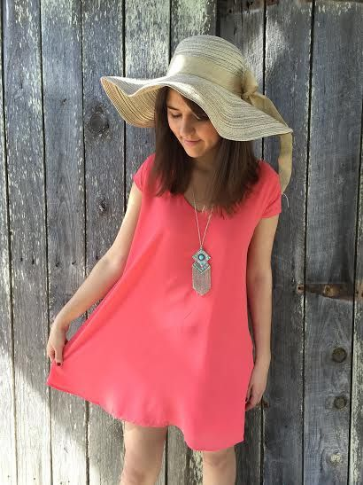 In the Cabana Dress, Coral