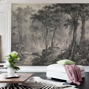 Heron Print Wallpaper Removable Peel And Stick Mural Etsy Removable Wallpaper Print Wallpaper Wallpaper