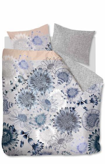 Duvet Cover Sunflowers Blauw
