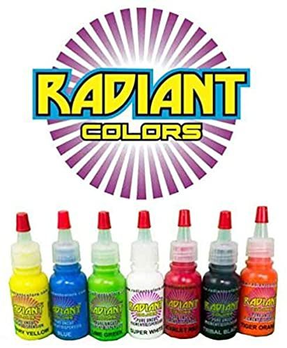 New Tattoo Ink Radiant Colors 7 Color 1 2oz Primary Set Made The Usa Online Shopping Newtrendyfashion In 2020 Best Tattoo Ink Ink Tattoo Tattoo Kits