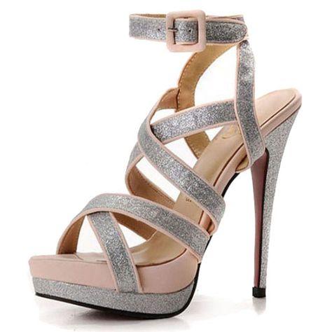 Christian Louboutin High Heel Straratata Glitter